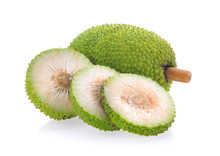 Breadfruit Isolated On White B...