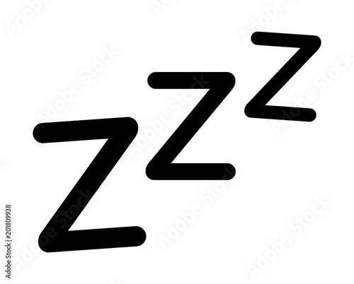 Sleeping, zzz or slumber vector icon for sleep apps and