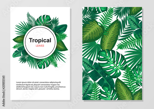 Tropical Leaves Background Invitation Or Card Design With Leaves Vector Illustration Buy This Stock Vector And Explore Similar Vectors At Adobe Stock Adobe Stock Free for personal and commercial projects file: tropical leaves background invitation