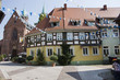 German people and foreigner travelers visit and travel building retro style and St. Gallus church at Ladenburg