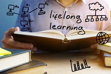 Lifelong Learning Concept. Man...