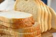 Leinwandbild Motiv Sliced white bread