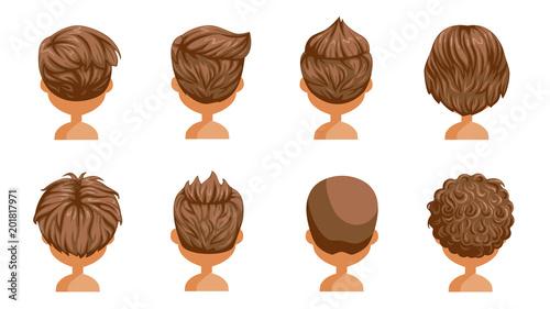 Boy Hair Rear View Set Head Of A Little Boy Cute Hairstyle Variety