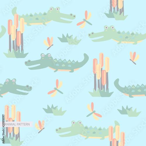 Fotografía  Animal Seamless Pattern Decoration for Child