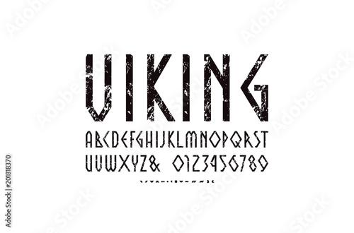Photo Decorative geometric narrow sans serif font
