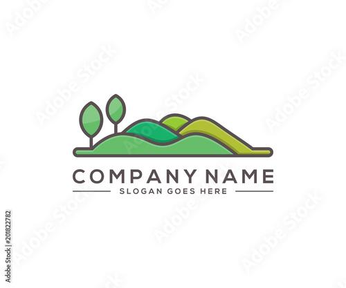 Obraz hill logo template - vector illustration - fototapety do salonu
