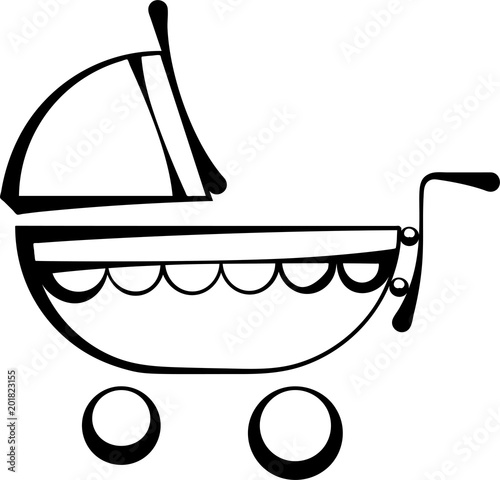 Baby Carriage Icon Poster