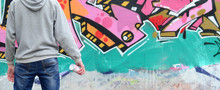 A Young Graffiti Artist In A G...