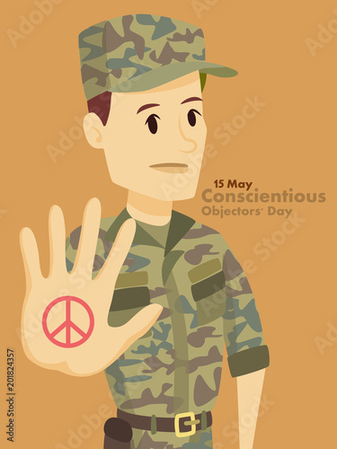 Fotografie, Obraz  Conscientious objectors day.