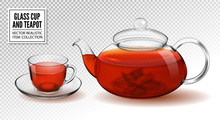 Vector Glass Cup And Teapot Wi...