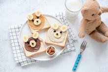 Funny Food Art Breakfast Toast...