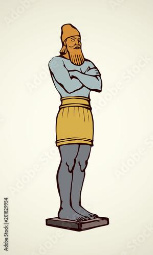 Golden Idol of Nebuchadnezzar. Vector drawing Fotomurales