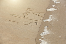 The Inscription I Love Sea Is ...