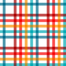 Colorful Tartan Plaid Fabric O...