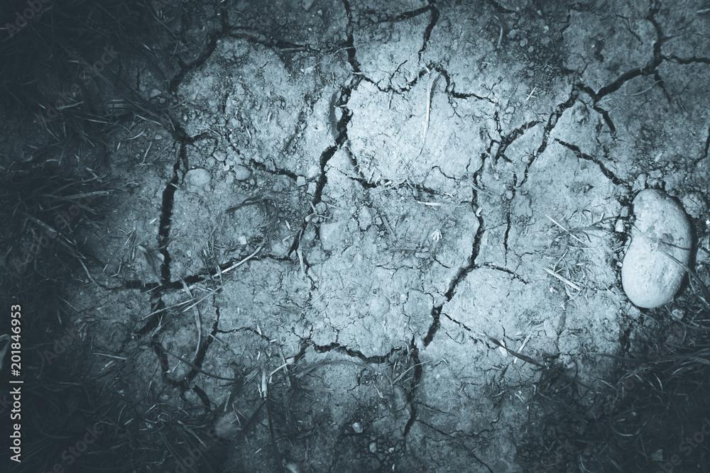 Photo & Art Print Vertrockneter, ausgelaugter Boden, Dürre ...