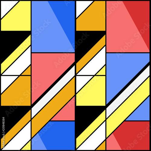 Obrazy styl bauhaus modernistyczne-trojkaty-i-prostokaty