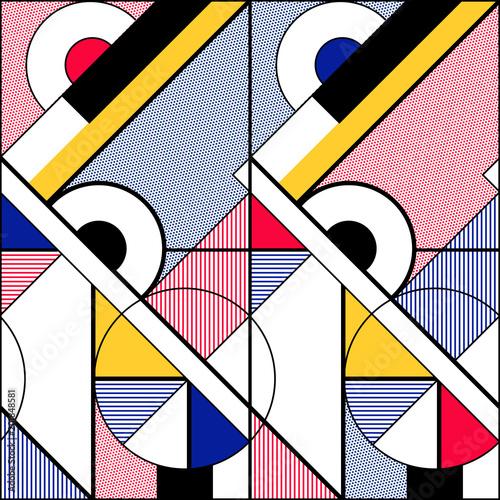 Obrazy styl bauhaus modernistyczna-linia-koloru