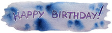 Happy Birthday Watercolor Banner