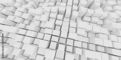 Abstract various size of white box in grid pattern,Concept