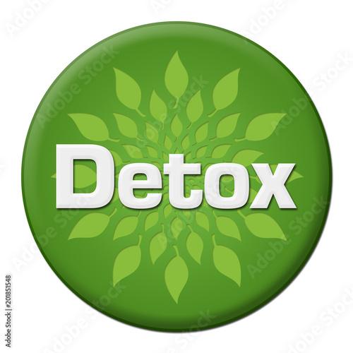 Detox Green Leaves Circle Badge Style