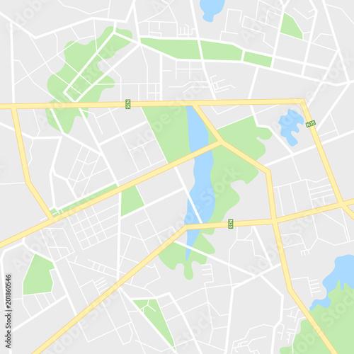 Fotografía  Map of the city, locality