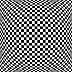 Naklejka 3D 3D checked pattern. Convex geometric texture.