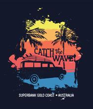 Summer Surf Vacation In Australian Gold Coast