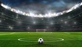 Fototapeta sport - fußballfeld mit fussballtor