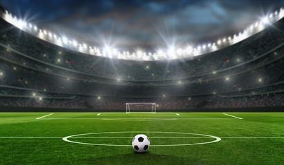boisko do piłki nożnej z celem piłki nożnej