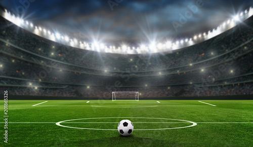 Fototapeta premium boisko do piłki nożnej z celem piłki nożnej