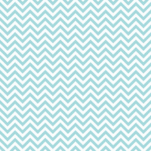 Retro Seamless Pattern Chevron Turquoise Little