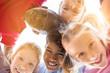 Leinwandbild Motiv Happy children in circle