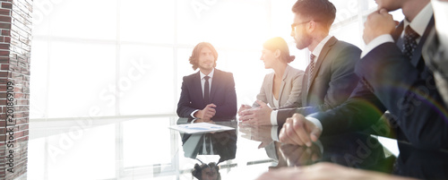 Photo  meeting of business people