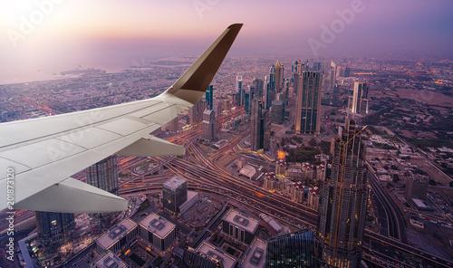 Dubai aerial view from airplane