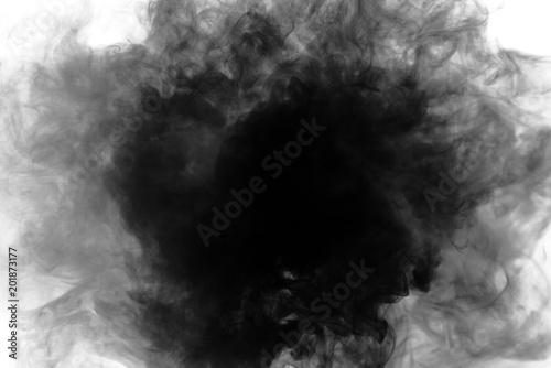 Türaufkleber Rauch Black smoke on white background
