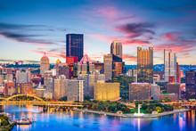 Pittsburgh, Pennsylvania, USA River And Skyline