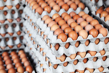 Stack Of Fresh Eggs Healthy Fo...
