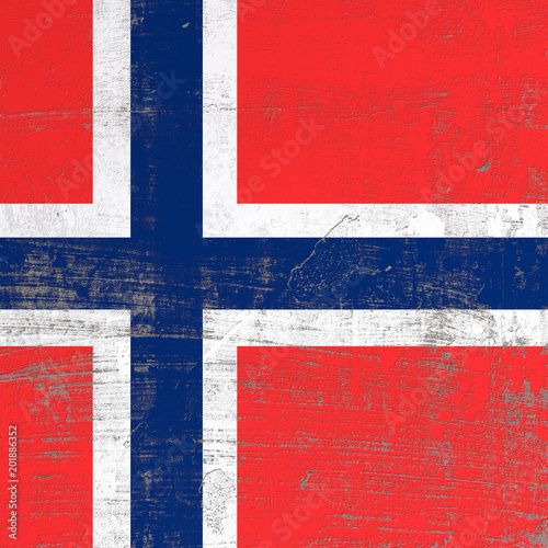 Photo  scratched Norway flag