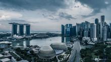 Aerial View Panorama Of Singap...