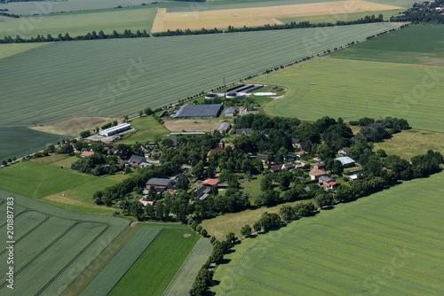 Photo Kagendorf bei Neu Kosenow aus der Luft