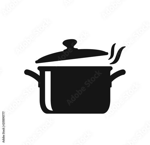 Cooking pan icon Fototapet