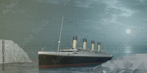 In de dag Schip old cruise liner