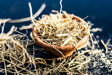 Dried Vetiver Grass Or Khus Or...