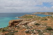 View to Ghajn Tuffieha Bay and Golden Bay at the Mediterranean sea in Malta