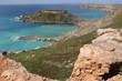 View to Ghajn Tuffieha Bay and Golden Bay at the Mediterranean sea in Malta