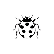 Ladybug Hand Drawn Outline Doodle Icon. Insect Ladybug Vector Sketch Illustration For Print, Web, Mobile And Infographics Isolated On White Background.
