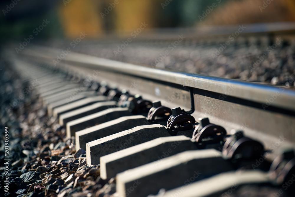 Fototapety, obrazy: Railway close up