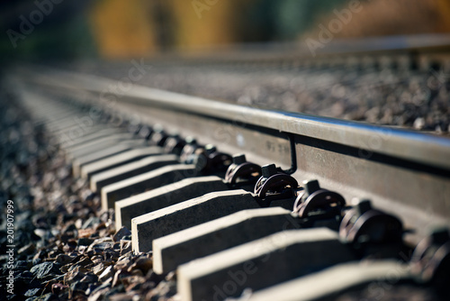 Fotografiet  Railway close up