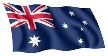Australia Flag. Isolated Natio...