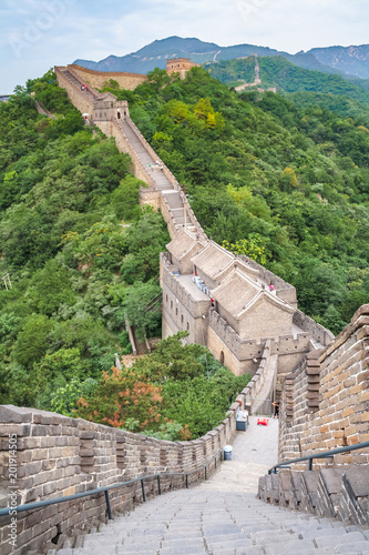 Tuinposter China The majestic Great Wall, Beijing, China